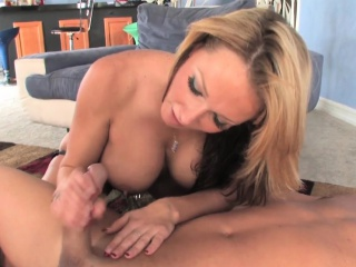 busty dominatrix enjoys pegging her slave