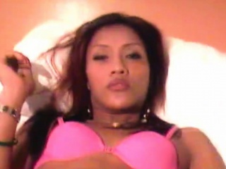 handjob in pov from a beautiful asian t girl in pink bra
