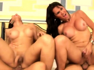 tattoed t girls ride hard cocks with huge butts in cowgirl