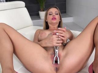 girl with big tits enjoys a shuddering orgasm