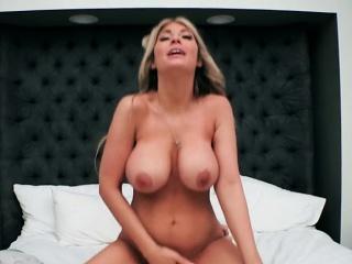 busty babe kayla kayden sucks and fucks plumber