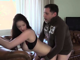 old young amazing big tits girl fucks old man