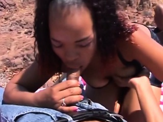 busty african sluts giving lovely head outdoors