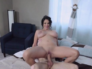 milf shares well endowed stepson with a friend