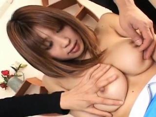 enticing jp babe ai kurosawa gets hairy pussy licked and