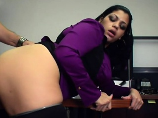 bubble butt and big tits woman gives head and pounded
