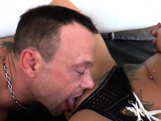tattooed domina pussylicked and fucked hard