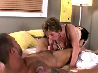granny gives a sensual massage