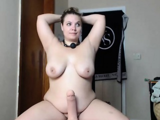 naturally busty blonde plays with sex toys
