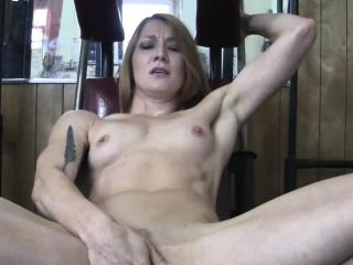 sexy blonde gets groped masturbates in gym