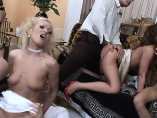 intense orgy action with hot sex bombs