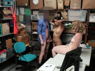 thieves maya and bonnie blow big dick in office