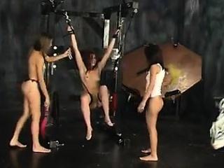lesbian bdsm with spanking