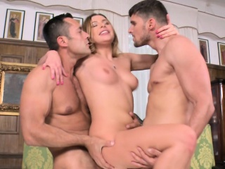 anal whore gets double fucked