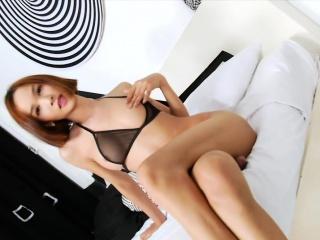 small tits asian shemale mikki a masturbates her hard cock