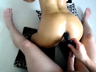 hardcore ass toying scene with naked hentai sex doll