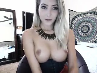 very sexy blonde girl with big perky boobs