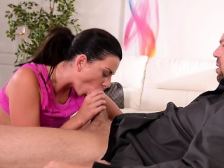 small tits pornstar ball licking with orgasm