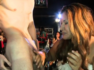 cfnm milf blowing stripper cock at party