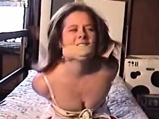 hot pornstar bound and gagged with cumshot