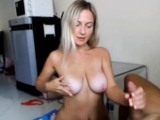 amazing handjob and bj by hot blonde babe