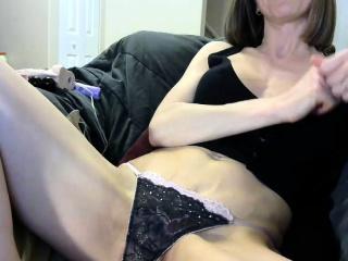 blonde milf in blue panties pounding