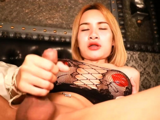 big tits tight ass ladyboy masturbates and sucks dick