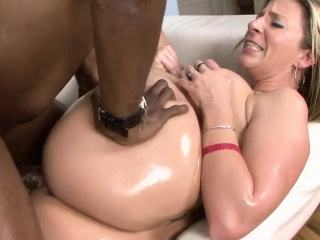 sara jay oiled and fucked by big black cock