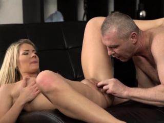 dad daddy father cumshot facial and old man partner's daught