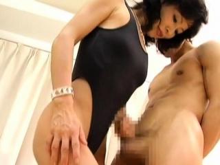 fat asian mature sucks gives tit fuck and rides jock wildly