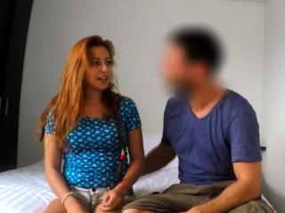 latina tinder date gets facial on hidden camera