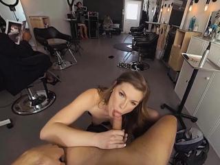 vrbangers com hot hairdresser ella fucked hard and facial
