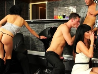 cutie pie gets anal drilled by two bi sexual males