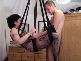 german step son fuck mother with stockings in love swing
