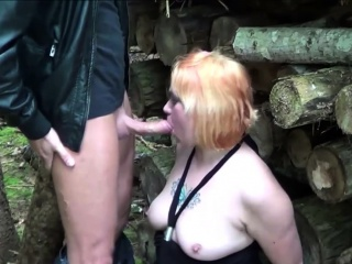 german redhead milf fuck with young boy outdoor after school