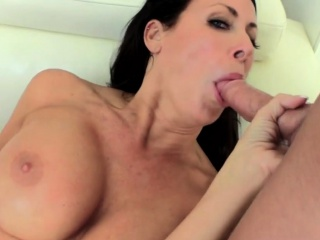 milf with huge tits gets a taste of a big dick
