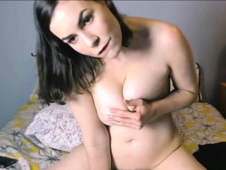 masturbation of hairy big pussy from sexy brunette babe