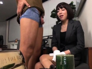 busty businesswoman recieves a hard knob from her boss
