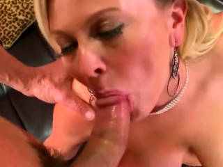 busty blonde milf banged and creamed