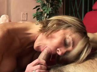 blonde sweetie makes a guy cum