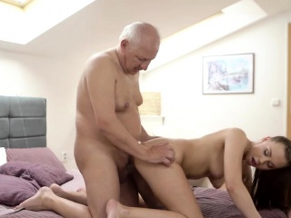 daddy4k fingers of tricky old guy prepare young pussy