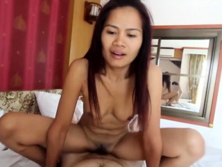 skinny sweet asian milf lets white tourist explore and use