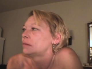 mature blonde trash whore sucking dick for crack cash pov