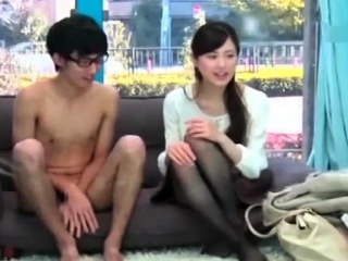 shy japanese teen gives the best blowjob ever