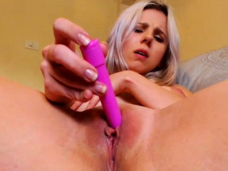blonde whore goes solo with toys