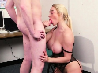 slutty doll gets sperm shot on her face eating all the semen