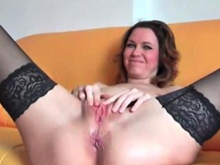 black stockings and vagina masturbation