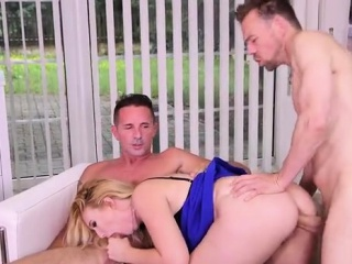 natural tits daughter threesome with cum in mouth