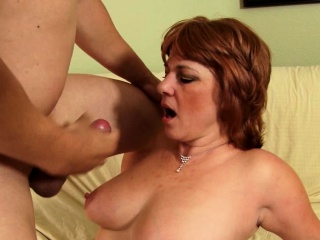 milf sucking dick and getting fucked hard