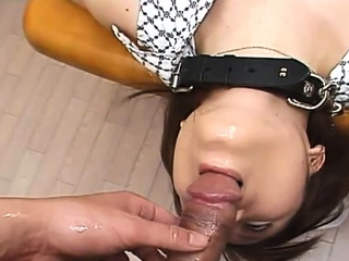 stunning young japanese slut gives a steamy pov fellatio
